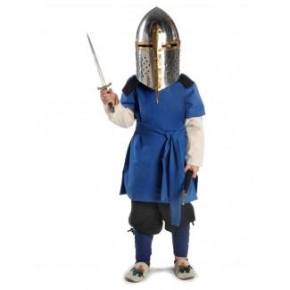 Mittelalter Kinderwadenwickel Boer in Blau Frontansicht 4