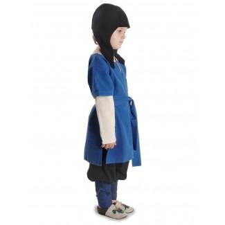 Mittelalter Kinderwadenwickel Boer in Blau Seitenansicht 2