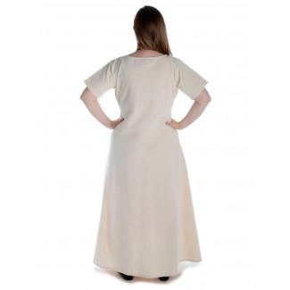 Mittelalter Kleid Hrist in Beige Rückansicht