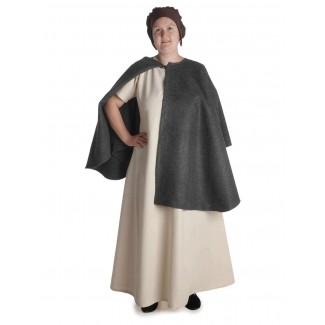 Mittelalter Kleid Hrist in Beige Frontansicht 2