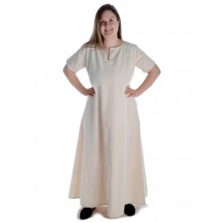 Mittelalter Kleid Hrist in Beige Frontansicht 3