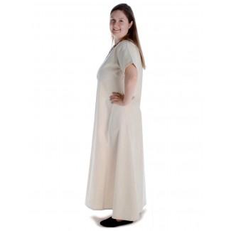 Mittelalter Kleid Hrist in Beige Seitenansicht