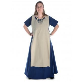 Mittelalter Kleid Hrist in Blau Frontansicht 2