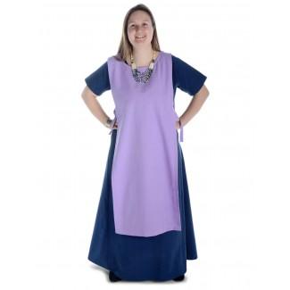 Mittelalter Kleid Hrist in Blau Frontansicht 3