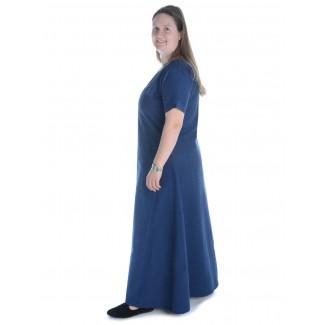 Mittelalter Kleid Hrist in Blau Seitenansicht