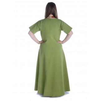 Mittelalter Kleid Hrist in Hellgrün Rückansicht