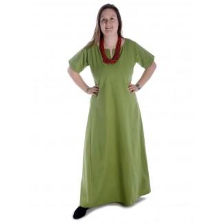 Mittelalter Kleid Hrist in Hellgrün Frontansicht