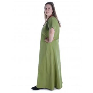 Mittelalter Kleid Hrist in Hellgrün Seitenansicht