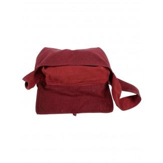 Mittelalter Tasche Wieland in Rot Detailansicht 2