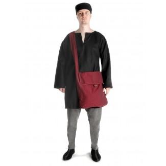 Mittelalter Tasche Wieland in Rot Seitenansicht