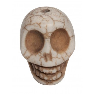 Piraten Totenkopf-Perle Karhet aus Resin in Beige Frontansicht