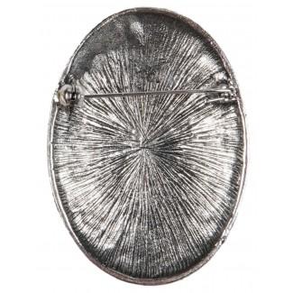 Wikinger Brosche Clarmine in Silbern Rückansicht