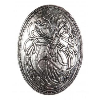 Wikinger Brosche Clarmine in Silbern Frontansicht