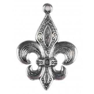 Ritter Anhänger Chlodwig (Heraldik) aus Metall in Silbern Frontansicht