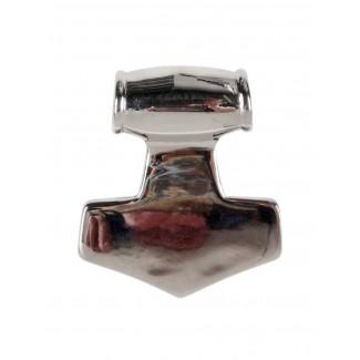 Wikinger Anhänger Mjölnir (Thors Hammer) aus Metall in Silbern Rückansicht