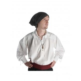 Piraten Halskette Iwert (Totenkopf) aus Resin in Beige Frontansicht 2