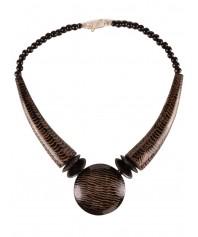 Mittelalter Halskette Jörmungandr aus Resin in Braun Frontansicht