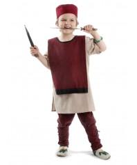 Mittelalter Kinderwaffenrock Liddamus in Rot-Schwarz Frontansicht